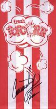 Courtney Force Drag Racer NHRA Hand Signed Autograph 3.5x7 Popcorn Bag