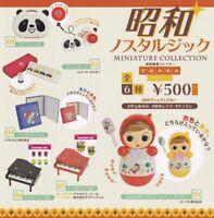 Showa Nostalgic miniature collection All 6 types set Capsule toy Gashapon jp new