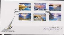 GB - GUERNSEY 2011 Sea Guernsey Part 3 Coastal Views SEPAC '11 SG 1388/93 FDC