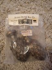 "Antique Drapery Rod Co. Pair of Regency Pineapple 2"" Finials Bronze"