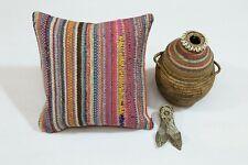 "16"" Cotton Bohemian Pillow Case Handmade Cushion Cover Colorful Sofa Home Decor"