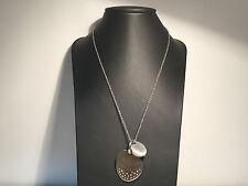 Nuevo - Collar Necklace BREIL - Cadena + Colgante Acero + Zirconitas