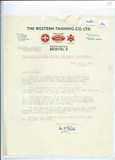 EPHEMERA -182 - WESTERN TANNING LTD, BRISTOL- TRADE UNION  LETTER - MAR 1956