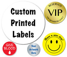 2 Inch Circle Custom Printed Labels, Peel & Stick, Roll of 3,000 Stickers