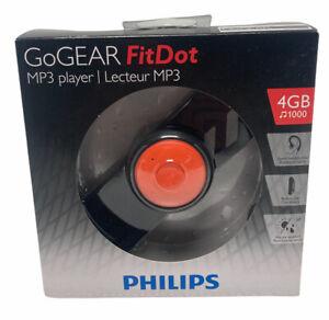 NEW Philips GoGear Mini 4GB Sound-Dot Portable MP3 Player W/Headphone 1000 SONGS