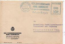 Alemania Sobre comercial con franqueo Mecanico del año 1955 (DG-655)