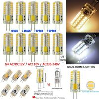 1-10 Packs G4 Base LED Light Bulbs AC 110V Capsule Halogen Bulbs Energy Saving