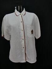 Gr.42 Trachtenbluse Bluse weiß Baumwollmischung Resi Hammerer Borte TB5043