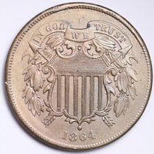 1864 Two Cent Piece CHOICE UNC FREE SHIPPING E173 KEW