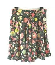 LuLaRoe Madison Skirt Heathered Floral on Navy Blue Plus Size 3XL Flowers