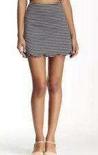 Necessary Objects Womens Size Medium Black & White Striped Scuba Skirt NWT