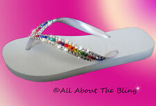 HAVAIANAS flip flops or Cariris Wedge sandal with SWAROVSKI CRYSTALS Rhinestones