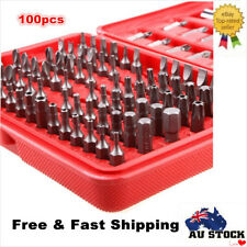 100pcs SECURITY SCREWDRIVER BIT SET TAMPER PROOF TORX TAMPER HEX