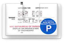 Muni Safe Meter Display Parking Receipt Slip Holder *5 PACK* *! BEST VALUE !*