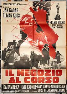 manifesto 2F film IL NEGOZIO AL CORSO ebrei SHOAH 1967 Cecoslovacchia