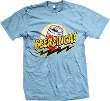 Beerzinga Can Beer Drunk Party Bolt Sheldon Show Line Nerd Quote Men's T-Shirt
