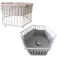 Baby Laufgitter Kinder Krabbelgitter Laufstall höhenverstellbar 6-Eck + Einlage
