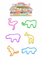 6 Jumbo Zoo Buddy Bands - Pinata Toy Loot/Party Bag Fillers Childrens/Kids