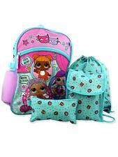 5 PIECE NWT LOL Surprise Dolls School Backpack Lunch Box Water Bottle Pencil Set