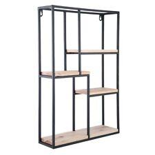 Wall Storage Unit Metal Wood Industrial Style Shelves Retro Shelf Rack
