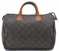 Authentic Louis Vuitton Monogram Speedy 30 Hand Bag M41526 LV B6183
