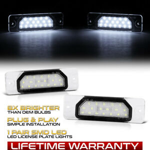 [XENON WHITE]LED License Plate Light Lamp SET For Infiniti FX35 FX45 Q70 M37 M56