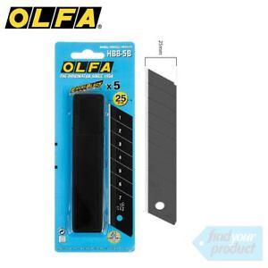 6x OLFA ULTRA SHARP 25MM BLADES  - HBB-5B ( NON SLIP, UTILITY, STANLEY )