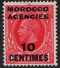 Agenzie Marocco MONETA francese 10c su 1d Rosso sg217 unmounted Nuovo di zecca WMK Blocco