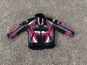 Castle X Girl's Insulated Snowmobile Jacket Size S Black Pink Lined Snow