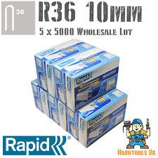 5 X 5000 RAPID R36 10mm Cavo Staples BULK PACK for all' ingrosso