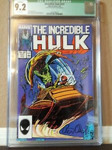 Incredible Hulk CGC 9.2 Signed by Peter David