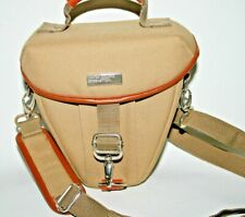 New United Colors of Benetton Camera Case Light Brown Nylon Metal Fittings Foto