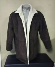 Ralph Lauren - Brown Faux Suede & Sherpa Lined Jacket Coat Mens 2X Large