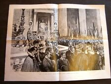 Roma nel 1901 Argentini collocano la targa d'oro sulla tomba di Re Umberto I