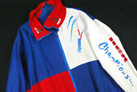 Vintage 90s RCA Tennis Championship Color Block WIndbreaker Jacket Oversized XL