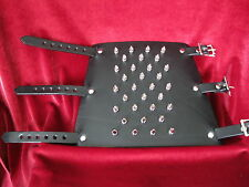 """Leather Gauntlet W/ 32 Spikes Fits 7-9"""" Wrist"""