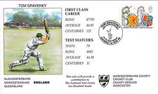 Tom Graveney Worcs cricket FDC first day cover  Oxford handstamp FDI envelope