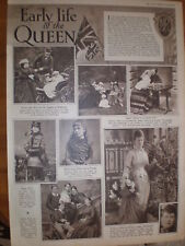 Photo article early life of UK Queen Consort Mary 1935