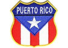 """(B1) PUERTO RICO SHIELD FLAG 2.75"""" iron on patch (1332) Biker Vest Cap"""