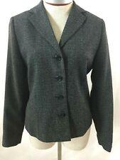 Uniform Petites blazer jacket Size 8 black John Paul Richard polyester lined