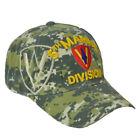 U.S United States 5th Marine Division Div Hat Cap Digital Camouflage Camo Adjs