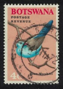 Botswana Cordon-bleu 'Blue Waxbill' Bird 4c 1967 Canc SG#223