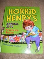 Horrid Henry's Annual 2010 HB book Francesca Simon children's
