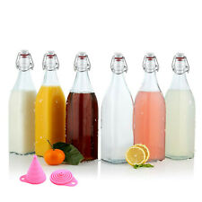 Swing Top Glass Bottles Flip Top Brewing Bottles Storage Containers 500ML AU