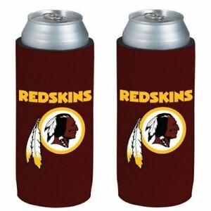 Washington Redskins NFL 2 pack Ultra Slim Can Koozie Cooler Hugger