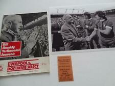 More details for liverpool fc legend bill shankly 1975 testimonial programme & print
