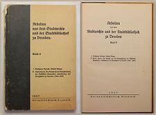 Gerlach/ Heyne Arbeiten a.d. Stadtarchiv u.d. Stadtbibliothtek Dresden 1937 xy