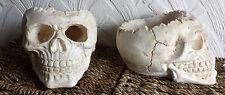 GRANDE TESCHIO Portacandele Pot-effetto invecchiato. Osso Gotico, LARP costume di scena, Halloween