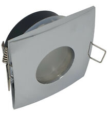 chrome square Ceiling downlight spotlight GU10 IP65 water rated led