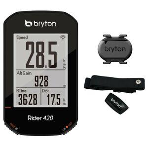 Bryton Rider 420T Gps Ciclocomputer + Fascia Cardio + Sensore Cadenza